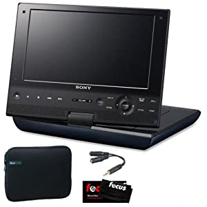 Sony BDP-SX910 9 inch Blu-Ray Portable Player + Carrying Case + Accessory Kit