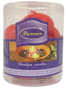 Red Floating Candles Pack Of 8  by UTC