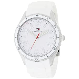 Tommy Hilfiger Women's 1781058 Sport White Silicon with White Bezel and White Textured Dial Watch