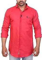 Trezer Live Men's Casual Shirt (Pink, X-Large)