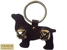 Tahoe Tack Sleigh Bell Door Hanger Spaniel Dog Shape- 2 Bells