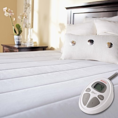 Best Deals! Sunbeam Quilted Heated Mattress Pad, Twin X-Large