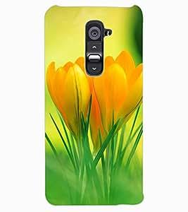 ColourCraft Lovely Flowers Design Back Case Cover for LG G2