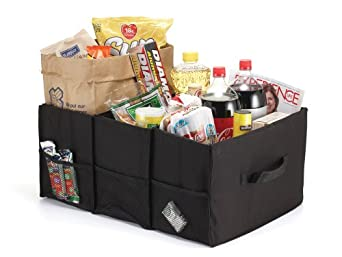 Jokari Grocery Tote and Car Trunk Organizer, Black