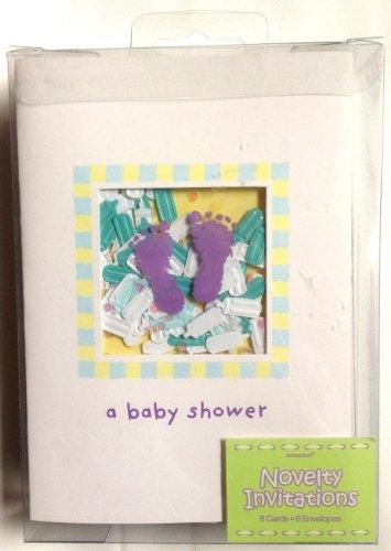 baby feet shaker invite