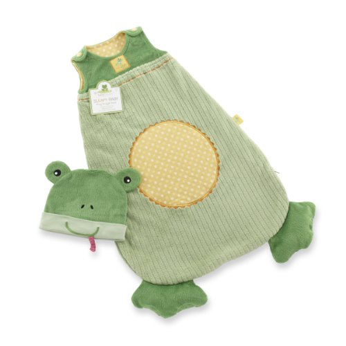 Baby Aspen S-leap-y Baby Frog Snuggle Sack and Cap, 0-6 Months