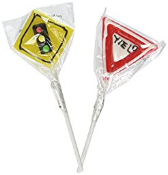 Frosted Street Sign Lollipops (1 dz) by Oriental Trading