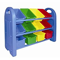 3 Tier Toy Organizer with 12 Bins