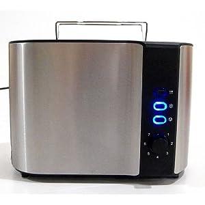 luxus design edelstahl toaster doppelschlitz toaster 2 scheiben br tchenaufsatz test preis. Black Bedroom Furniture Sets. Home Design Ideas