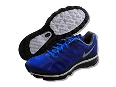 Mens Nike Air Max+ 2012 Running Shoes Light Midnight / Pure Platinum / Metallic Silver 487982-400 Size 13