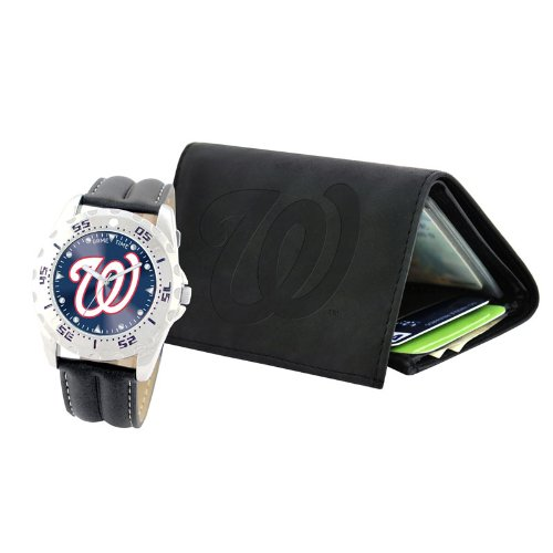 Washington Nationals Game Time Watch/Wallet Gift Combo at Amazon.com