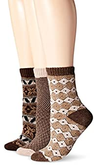 Muk Luks Women's Nordic Fair Isle Soc…