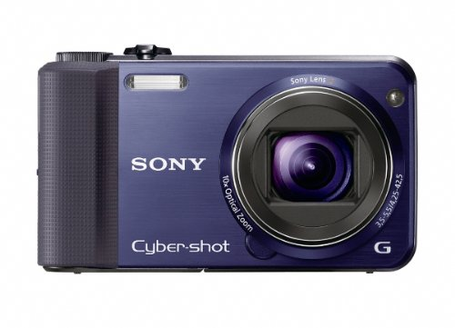 For Sale Sony Cyber-Shot DSC-HX7V 16.2 MP Exmor R CMOS Digital Still Camera with 10x Wide-Angle Optical Zoom G Lens, 3D Sweep Panorama, and Full 108060i HD Video (Blue)