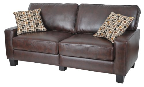 Serta Cr-43595P Monaco Collection 77Inch Deluxe Sofa, Biscuit Brown front-924635