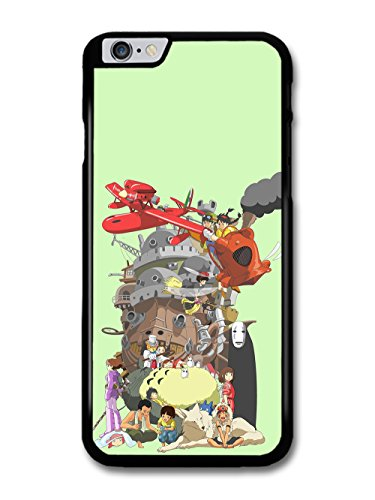 Miyazaki Characters Howl Moving Castle Totoro Red Planes Collage custodia per iPhone 6 Plus 6S Plus