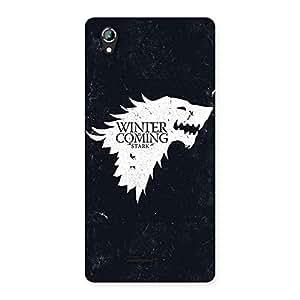 Impressive Comming Of Winter Back Case Cover for Lava Iris 800