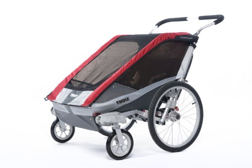 Thule Chariot Cougar Single Stroller - Red front-961089