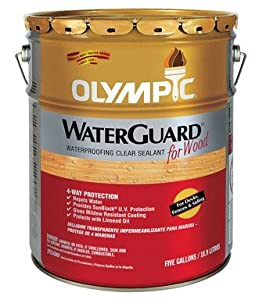 Olympic Waterguard Wood Waterproofing Sealant Voc Exterior Clear 5 Gl