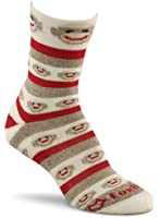 Fox River Women's Red Heel Merino Monkey Stripe Crew Socks