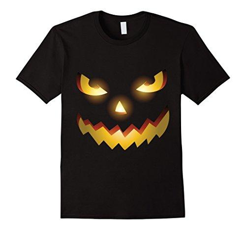 Scary Face Halloween Jack O Lantern Tee