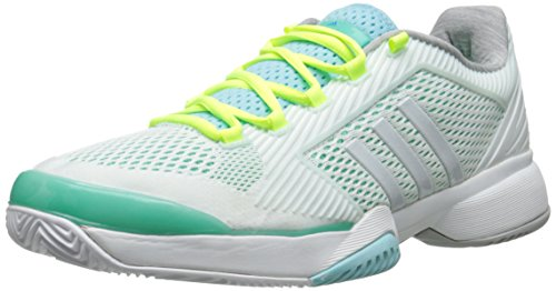 Adidas Performance Women's ASMC Barricade 2015 Tennis Shoe, Minty Green/White/Green, 8.5 M US