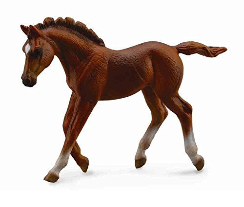 Collect A Horses Thoroughbred Walking Chestnut Foal Toy Figure