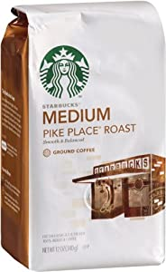 Starbucks Pike Place Roast Coffee, Ground, (Medium) 12-Ounce Bags (Pack of 2) from Starbucks