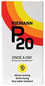 Riemann P20 Once A Day 10 Hours Protection Sun Cream SPF10 Low - 200 ml