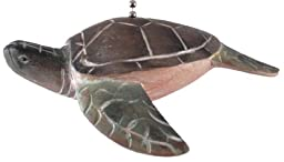 Tropical Ocean Sea Turtle Ceiling Fan Pull Carved