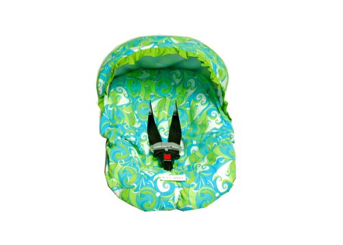 Hot Toddies Infant Car Seat Cover for Side Impact Protection Car Seats Emma Swirl Turquoise