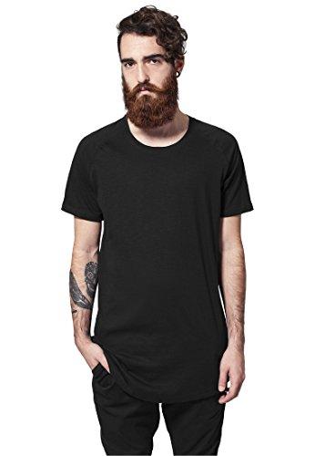 Urban Classics Herren Long Shaped Slub Raglan Tee T-Shirt, Color:black;Größe:L