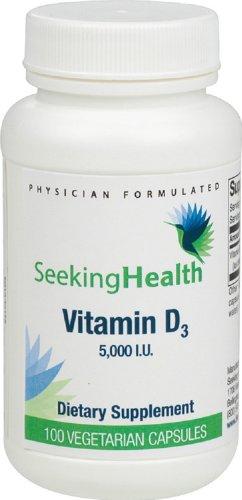 5000 UI de vitamine D 3 | 100 Vegetarian Capsules