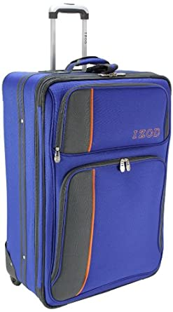 IZOD Luggage Allure 28 Inch Expandable Upright Suitcase, Blue Royale, Large