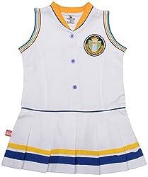 Absorba Baby Girls' Dress ( Gold_3-4 Years ,60011)