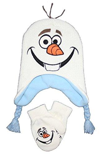 Disney Frozen Olaf Winter Beanie Hat & Mittens Set Toddler 2T - 4T