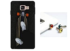 Designer 3D Printed Back Case Grip Cover for Samsung Galaxy A5 (2016 New Edition) + One Cool 3.5 mm Jack Anti Dust Plug