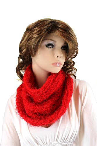 Fashion Dimensions Infinity Neck Scarf In Red