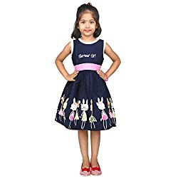 Hawai Girl Stylish Navi Blue Frock
