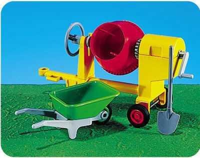 Cement Mixer w/ Wheelbarrow by Playmobil #7140 - Buy Cement Mixer w/ Wheelbarrow by Playmobil #7140 - Purchase Cement Mixer w/ Wheelbarrow by Playmobil #7140 (Playmobil, Toys & Games,Categories,Pretend Play & Dress-up,Sets,Gardening Tools)