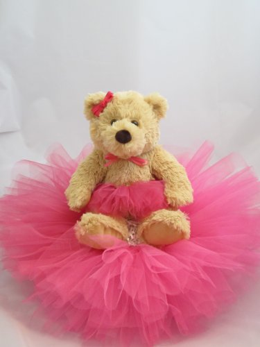 Baby Shower Centerpieces For Girls Fucshia Tutu Bear Diaper Cake Best Price  Fucshia Tutu Bear Diaper CakeSaleFucshia Tutu Bear Diaper Cake