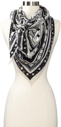 Mara Hoffman Women's Printed Scarf, Black, One Size