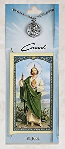 Prayer Card with Pewter Medal St. Jude