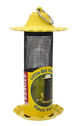 stokes-select-little-bit-feeders-finch-bird-feeder-with-metal-roof-yellow-6-lb-seed-capacity
