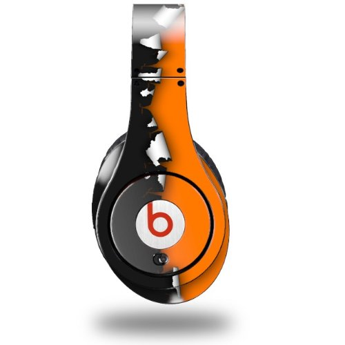 Ripped Colors Black Orange Decal Style Skin (Fits Original Beats Studio Headphones - Headphones Not Included)