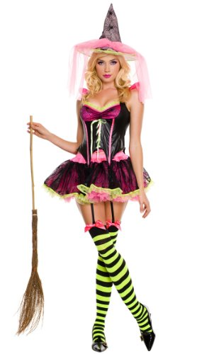 Music Legs Women's Pink Witch Costume