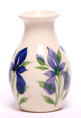 Emerson Creek Stoneware Bud Vase, Handmade Pottery Made In The Usa (Field Of Iris)