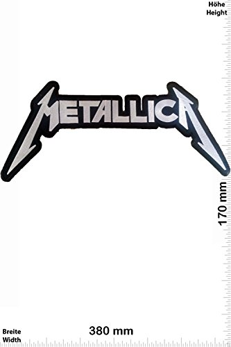 Patch - Metallica - 38 cm - BIG - BIGPATCH - Rocker - Biker - Chaleco - toppa - applicazione - Ricamato termo-adesivo - Give Away