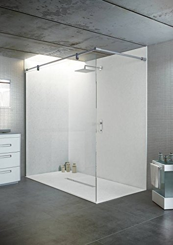 bodengleiche duschwanne mit duschrinne 180x100 aus mineralguss begehbare dusche 100x180. Black Bedroom Furniture Sets. Home Design Ideas
