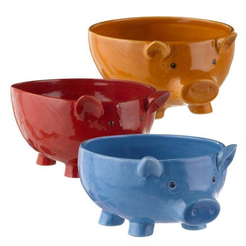 Grasslands Road Pig Bowl Assortment, 10-Inch, Set Of 3 front-476685
