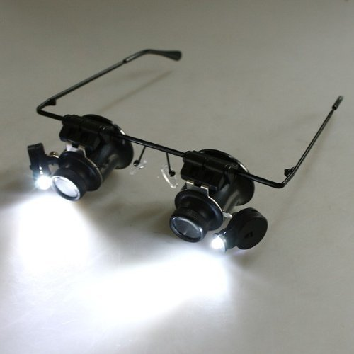 Grand Index Watch Repair Magnifier Loupe 20X Glasses With Led Light 9892A-Ii